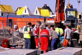 Zwaargewonde bij ongeval bouwterrein