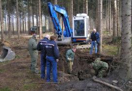 Onderdelen van V1 geruimd in bos bij Joppe