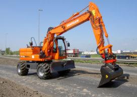 Een Doosan DX 140w voor Noorderbos