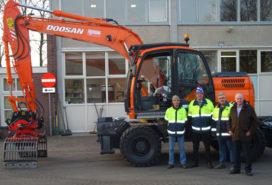 Doosan DX 160 W aan het werk in Barneveld