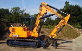 Hanix H 75 C met 2-piece boom