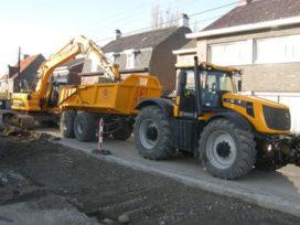 Fastrac grondverzetkipper voor Olivier Construct