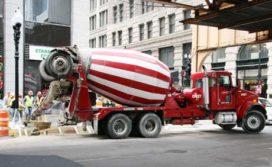 Kenworth betonmixers aan het werk in Chicago