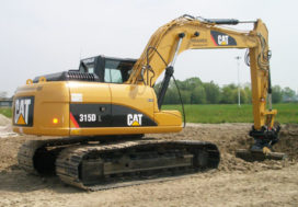 Eerste CAT 315D L in Nederland