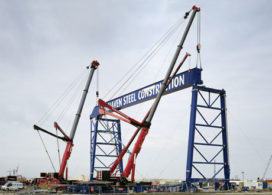 Gigantische hijsklus voor Mammoet Liebherr 1200 tonners