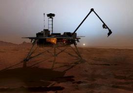 Graafrobot veilig op Mars geland