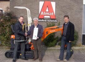 Kubota Dealer Award voor Almat Industrie
