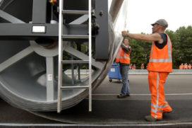 Proeven met afrolbaar asfalt afgerond
