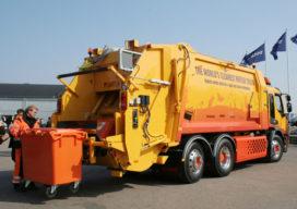 Volvo presenteert 's werelds eerste hybride vuilniswagen