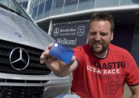 Frank de Jong wint Mercedes-Benz Vito-actie