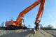 Attachment kobelco sk260lc met verlengde giek heeft 13 meter werkbereik 80x53