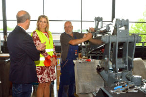 Koningin Máxima bezoekt Tobroco Machines