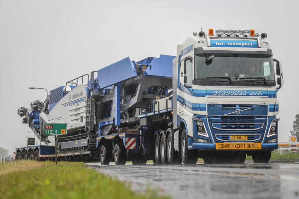 Volvo Crawler Gear in de praktijk van zwaartransport