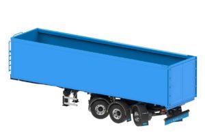 D-Tec kippertrailer met gestuurde assen en laag gewicht