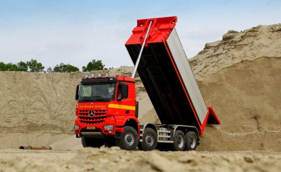 Mercedes is bezig markt te winnen in de bouwsector.