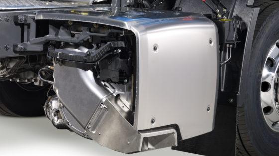 Compactere, lichtere demper geeft de nieuwe generatie DAF Trucks meer chassisruimte.