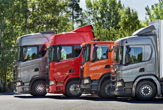 Alle vier cabinemodellen op een rij, van de kleine P via de G en de R naar het topmodel, de S.