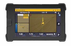 DeTrimble Earthworksgrade control applicatie is gebouwd voor het Android besturingssysteem en draait op de nieuwe Trimble TD520 touchscreen display.