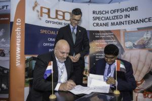 Rusch in Medemblik heeft een contract getekend voor het onderhoud van 23 bovenloopkranen op DAS Island, nabij Abu Dhabi. De klus wordt uitgevoerd door Rusch Crane Services Middle East LLC (Rusch ME). Ondertekening van het contract tussen Gogas/ACMT en Rusch ME vond plaats in de stand van Rusch tijdens de bekende offshore tentoonstelling Adipec te Abu Dhabi.
