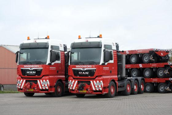 Met de komst van twee nieuwe MAN TGX 41.640 zwaartransport trekkers is Wagenborg Nedlift klaar voor de toekomst. De nieuwe giganten zijn goed voor maximale treingewichten tot 250 ton. Daarmee zijn dit trekkers uit de zwaarste klasse die geschikt zijn voor