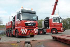 Zwaartransport trekkers van MAN voor Wagenborg Nedlift