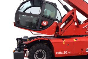 In hoogte verstelbare en kantelbare cabine voor Magni RTH