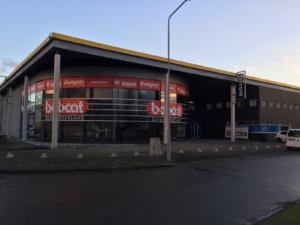 Het nieuwe pand van Bobcat Zuid-Nederland.