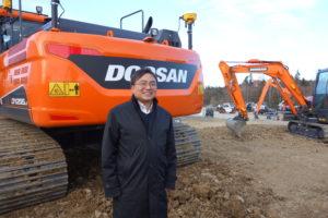 Offensief Doosan met nieuwe minigravers en bandenkranen